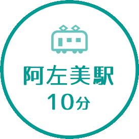 阿佐美駅10分